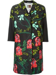 I'm Isola Marras Floral Print Coat Black