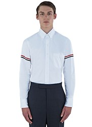 Thom Browne Striped Armband Classic Oxford Shirt White