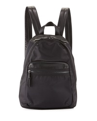 French Connection Piper Contrast Trim Nylon Backpack Black