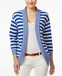 Tommy Hilfiger Striped Open Front Cardigan Surf The Web Print