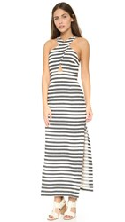Mara Hoffman Striped Dress Black Cream