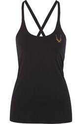 Lucas Hugh Cross Back Stretch Tank Black