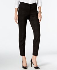 Alfani Petite Cropped Comfort Waist Skinny Pants Only At Macy's Plaid Pewter