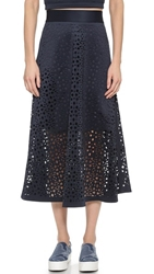 Dkny Full Midi Skirt Ink