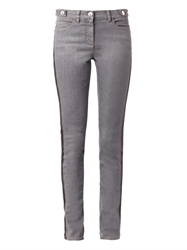 Versace Faux Leather Trimmed Skinny Jeans