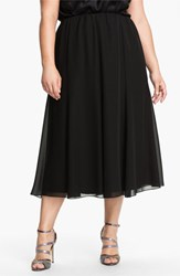 Plus Size Women's Alex Evenings Chiffon Skirt