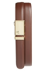 Men's Mission Belt 'Twentyfour' Leather Belt Gold Chocolate