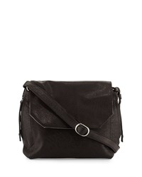 Day And Mood Clive Leather Satchel Bag Black