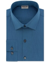 Kenneth Cole Reaction Techni Stretch Slim Fit Solid Dress Shirt Teal