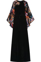 Emilio Pucci Embellished Silk Gown Black