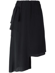 N 21 No21 Asymmetric Mid Skirt Black