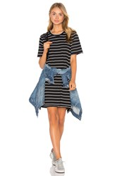 Knot Sisters Cdm Slouchy Tee Dress Black And White