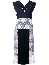 Theatre Products Lace Panel Sleeveless Dress Black