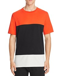 Rag And Bone Precision Color Block Tee Fiery Red Black