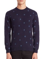Slowear Polka Dot Cashmere Sweater Navy