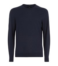 Boss T Borello Cashmere Sweater Male Navy