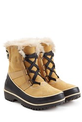 Sorel Tivoli Ii Suede And Rubber Short Boots Camel