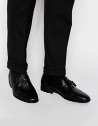 Asos Tassel Loafers In Black