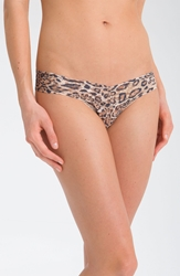 Hanky Panky 'Leopard' Low Rise Thong Brown