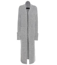 Haider Ackermann Mohair And Wool Blend Cardigan Grey
