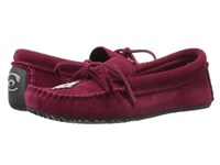 Manitobah Mukluks Canoe Moccasin Suede Rhubarb Women's Moccasin Shoes Red