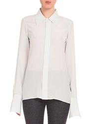 Victoria Beckham Long Sleeve Button Front Blouse Mint Green Women's