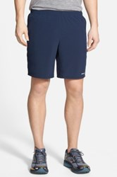 Patagonia 'Nine Trails' Stretch Woven Running Shorts Blue