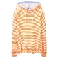 Joules Marlston Lightweight Hoodie Flouro Orange Stripe