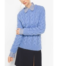 Hand Knit Cable Mohair Sweater