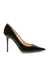 Jimmy Choo Abel Pointed Patent Leather Pumps In Black