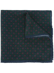 Hackett Dotted Pocket Square Green