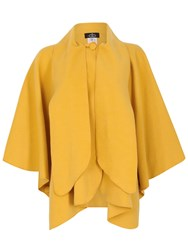 David Barry Faux Cashmere Cape Yellow