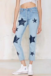 Nasty Gal After Party Vintage Star Crossed High Waisted Jeans