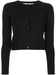 Red Valentino Cropped Cardigan Black