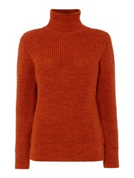 Gloverall Rib Funnel Neck Jumper Orange