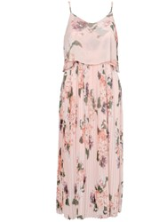Urban Touch Floral Print Cami Midi Dress Peach