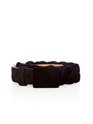 Marco De Vincenzo Suede And Velvet Plaited Belt
