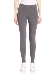 Saks Fifth Avenue X Majestic Filatures Slim Fit Ankle Length Leggings Flanelle