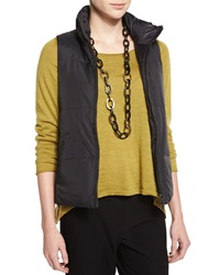 Eileen Fisher Puffer Reversible Vest Black