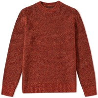 Folk Stripe Wool Jumper Orange