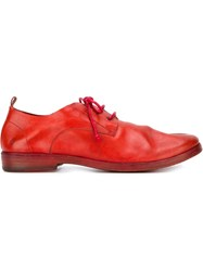 Marsa Ll Distressed Derby Shoes Red