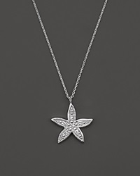 Kc Designs Diamond Starfish Pendant Necklace In 14K White Gold 16