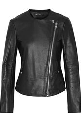 Theory Joean Leather Biker Jacket Blue