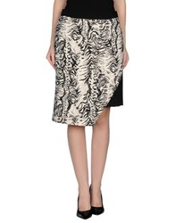 Emanuel Ungaro Knee Length Skirts Ivory