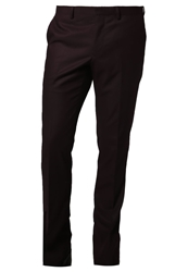 Burton Menswear London Shiraz Suit Trousers Burgundy Bordeaux
