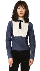 Dsquared Victorian Shirt Blue Off White