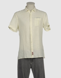 Trussardi Jeans Short Sleeve Shirts Lilac