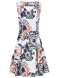 Havren Michelle Fit And Flare Dress Multi Coloured