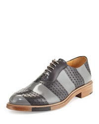 Perforated Brush Off Leather Oxford The Office Of Mister Scott