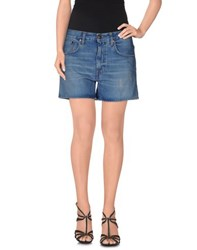 People Denim Denim Shorts Women Blue
